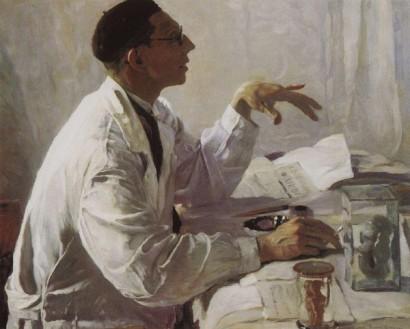 Портрет хирурга С.С.Юдина