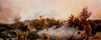 Бои на Мамаевом кургане. Фрагмент диорамы, созданной военными художниками студии имени Б.М. Грекова