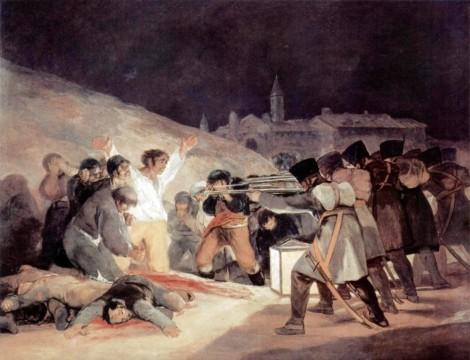 Ф. Гойя, «Расстрел; в ночь со 2 на 3 мая 1808 года»